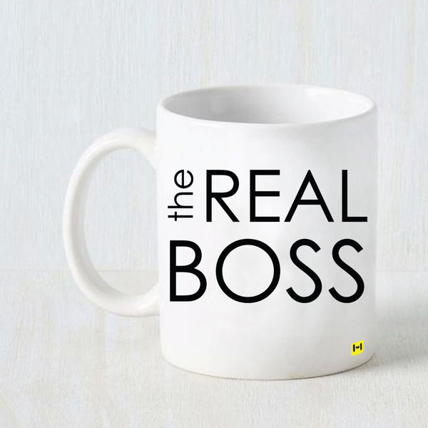 The real Boss - White Coffee Mug-Hamee India