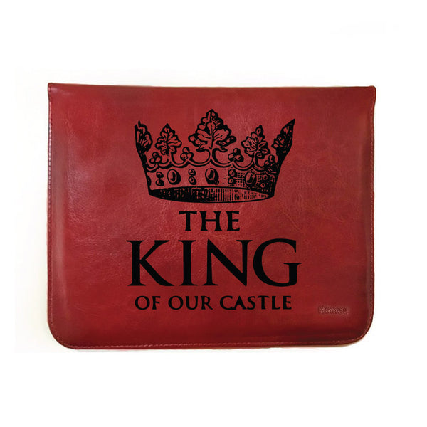 "King of our castle - Tan Brown Leather 8"" Tablet Sleeve-Hamee India"