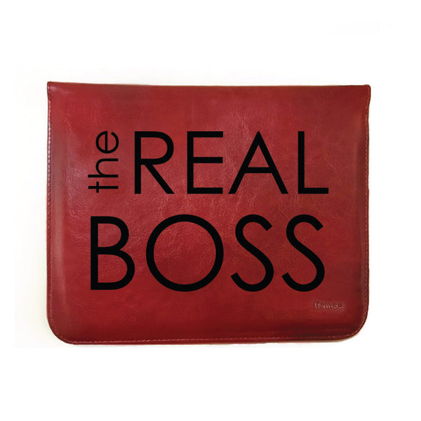 "The real Boss - Tan Brown Leather 8"" Tablet Sleeve-Hamee India"