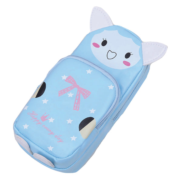 Zip Pencil Case - Blue Rabbit-Hamee India
