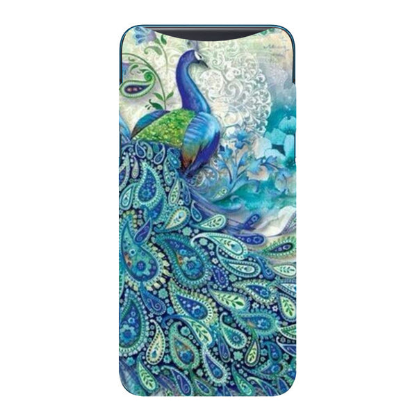 Blue Peacock Oppo Find X Back Cover-Hamee India