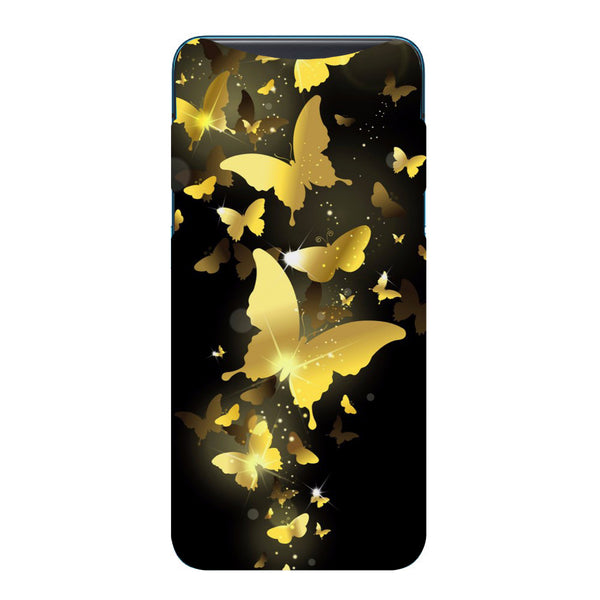 Golden Butterflies Oppo Find X Back Cover-Hamee India