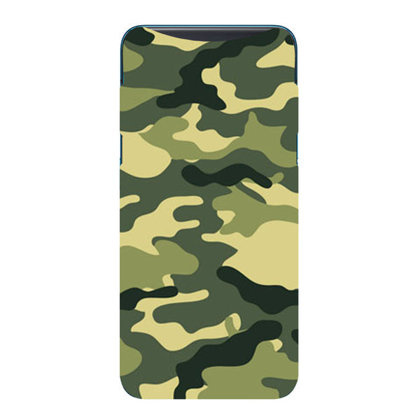 Camouflage Oppo Find X Back Cover-Hamee India