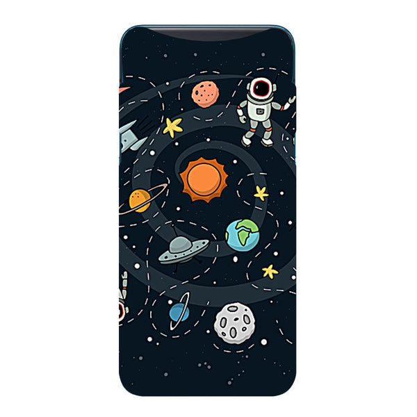 Space Oppo Find X Back Cover-Hamee India
