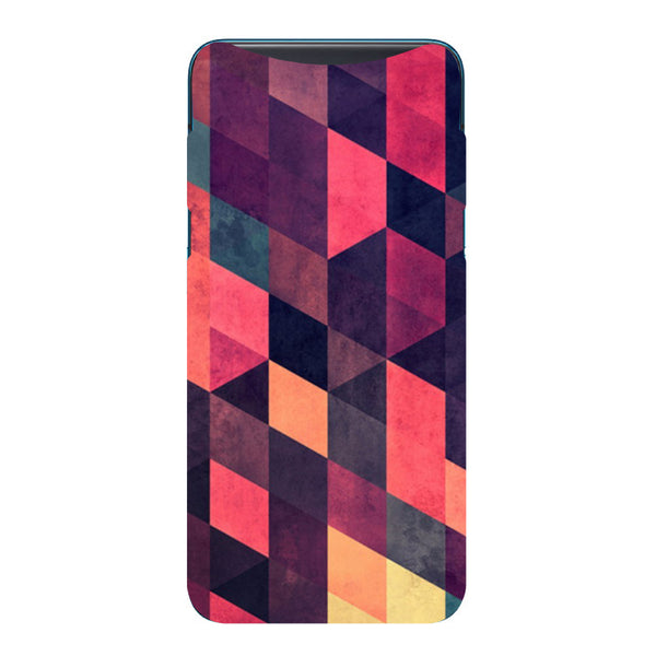 Pink Abstract Oppo Find X Back Cover-Hamee India