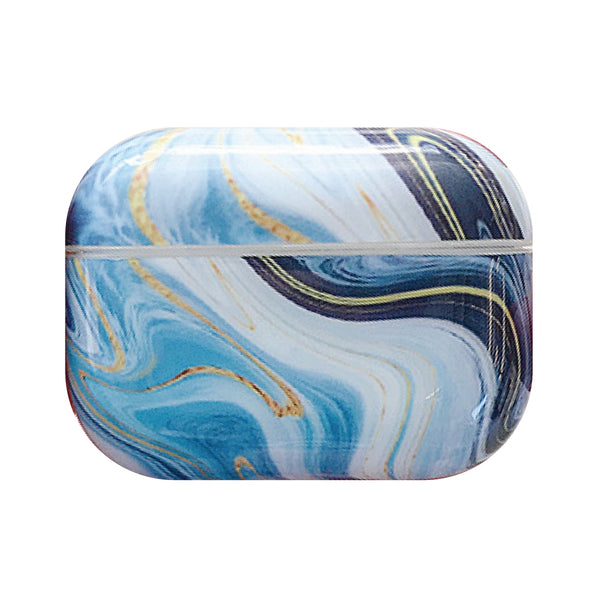 Hard Glossy Airpods Pro Case - Blue Marble