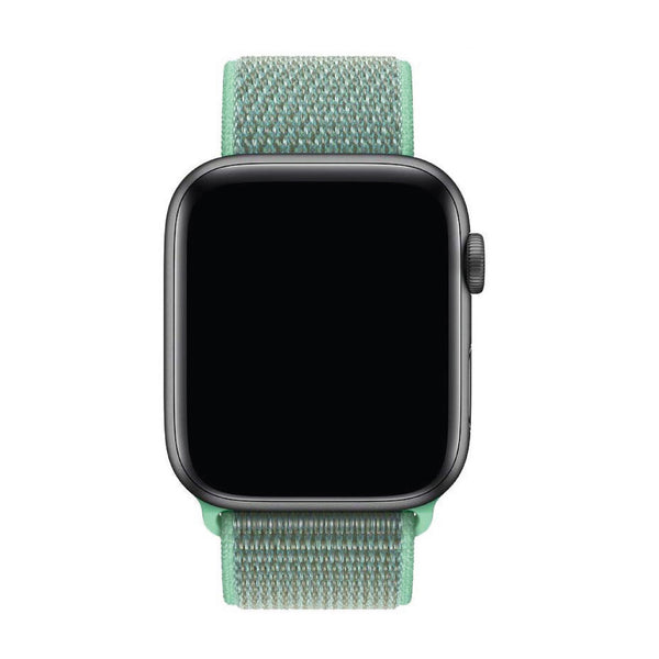 Mint Green Nylon Velcro Band Strap - Apple Watch Series 5/4/3 (44mm/42mm)