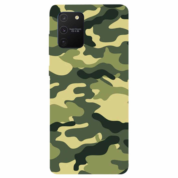 Green Camouflage Samsung Galaxy S10 Lite Back Cover