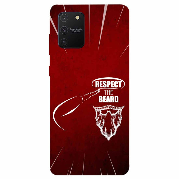 Respect Beard Samsung Galaxy S10 Lite Back Cover
