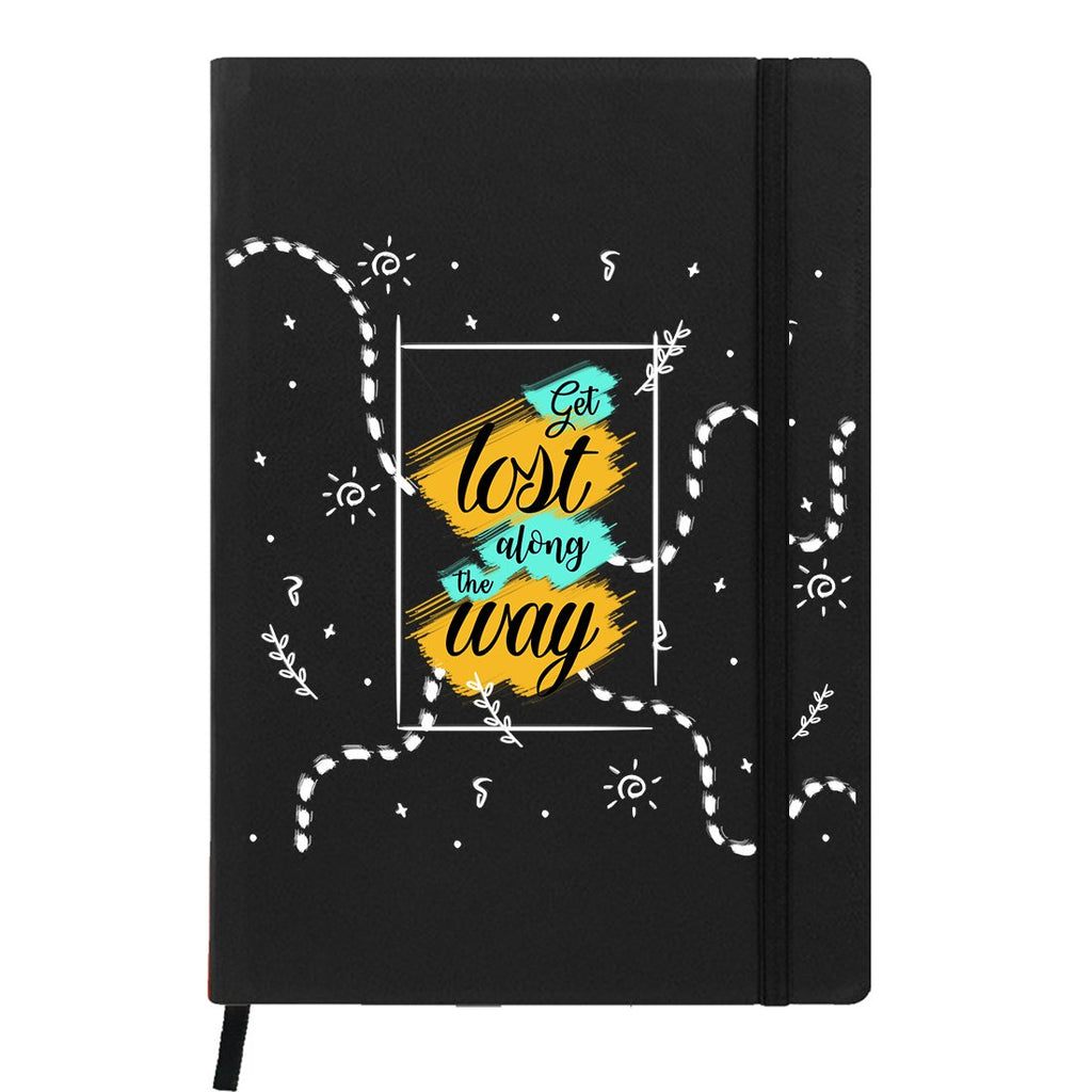 Get Lost Black A6 Pocket Diary