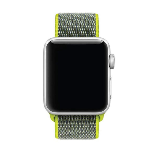 Green Nylon Velcro Band Strap - Apple Watch Series 5/4/3 (44mm/42mm)