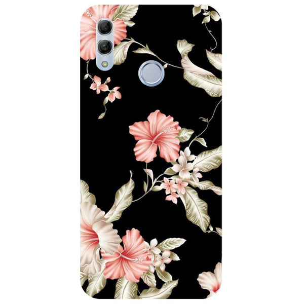 Black Flowers Honor 10 Lite Back Cover-Hamee India