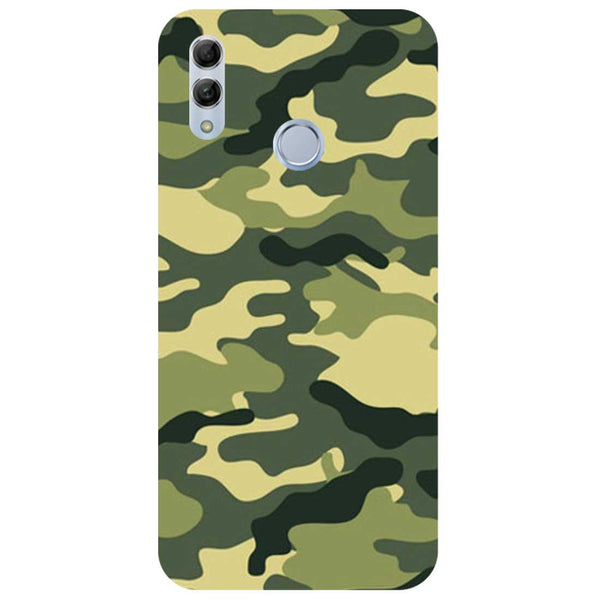 Green Camouflage Honor 10 Lite Back Cover-Hamee India