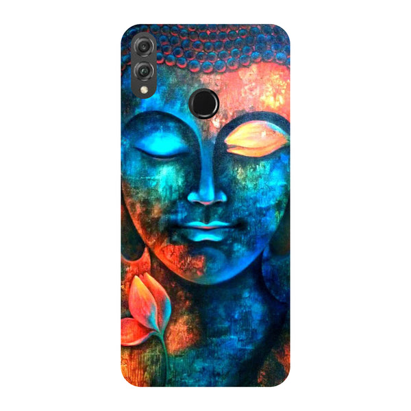 Serene Buddha Honor 8X Back Cover-Hamee India