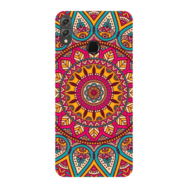 Pink Mandala Honor 8X Back Cover-Hamee India