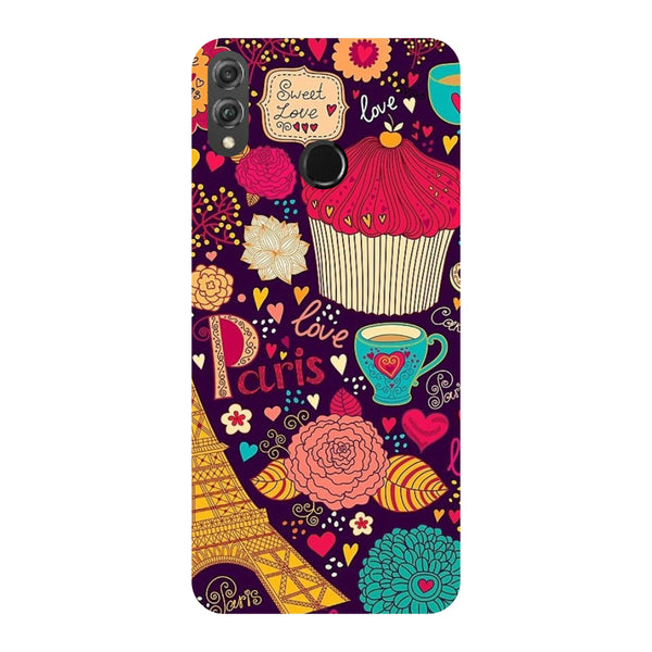 Paris Doodles Honor 8X Back Cover-Hamee India