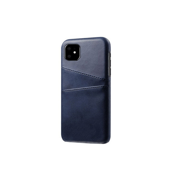 Leather Card Pocket Back Cover for iPhone 11 (Blue)