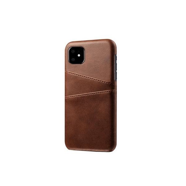 Leather Card Pocket Back Cover for iPhone 11 (Brown)