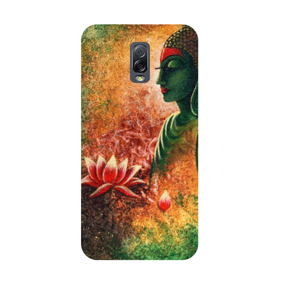 Buddha side pose- Printed Hard Back Case Cover for Samsung Galaxy J7 Plus-Hamee India