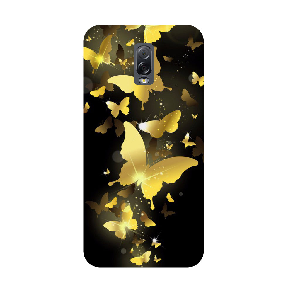 Golden Butterflies- Printed Hard Back Case Cover for Samsung Galaxy J7 Plus-Hamee India