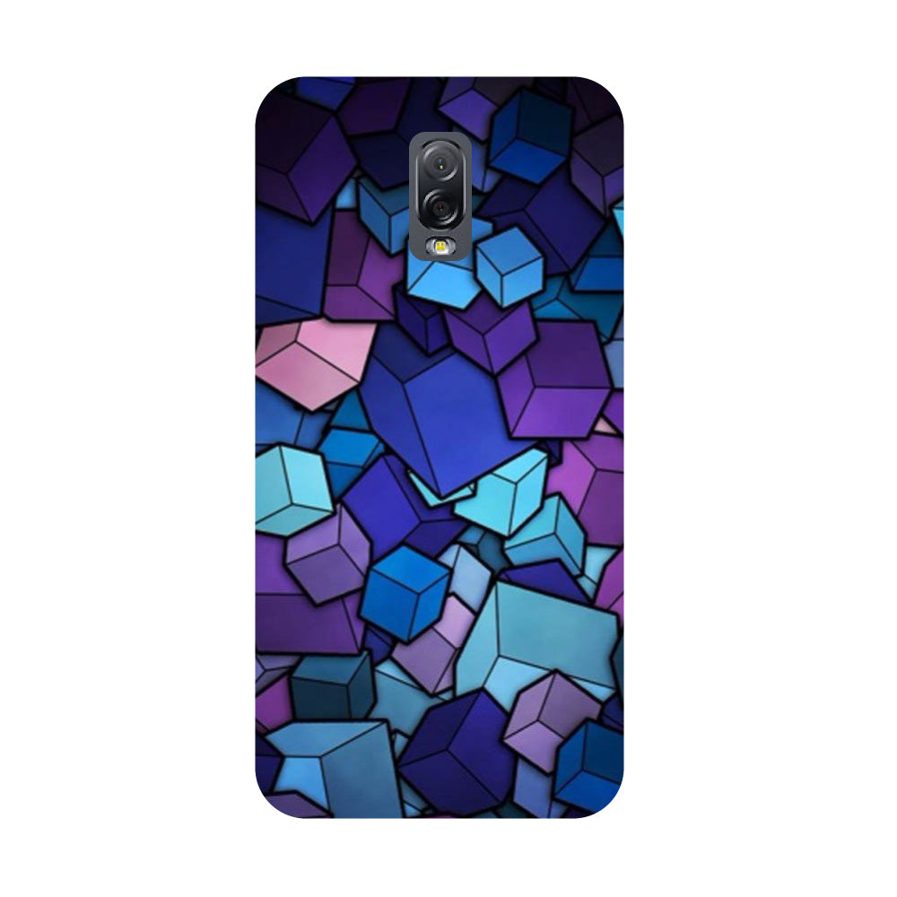 Cubes- Printed Hard Back Case Cover for Samsung Galaxy J7 Plus-Hamee India
