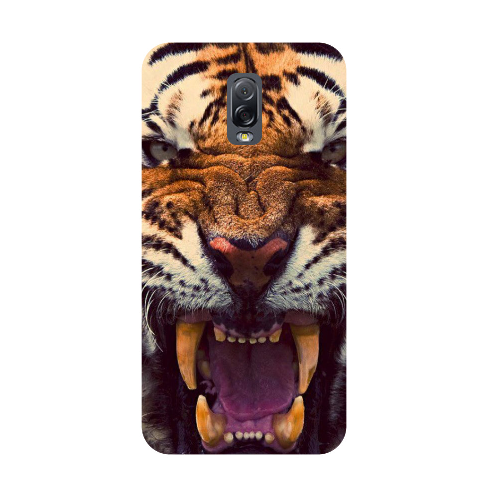 Tiger- Printed Hard Back Case Cover for Samsung Galaxy J7 Plus-Hamee India