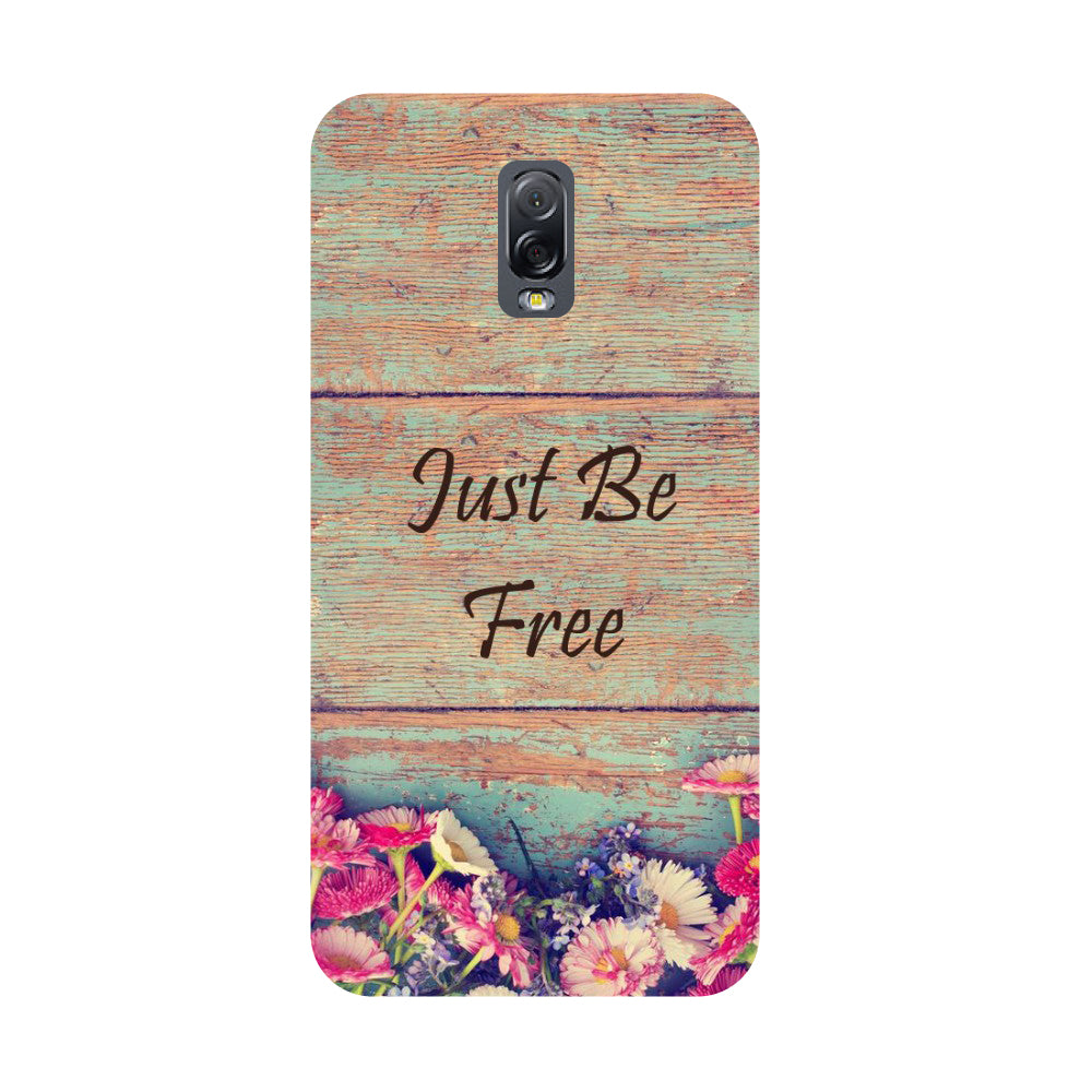 Be free- Printed Hard Back Case Cover for Samsung Galaxy J7 Plus