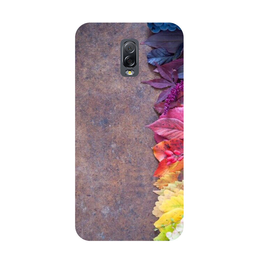 Side flowers- Printed Hard Back Case Cover for Samsung Galaxy J7 Plus-Hamee India