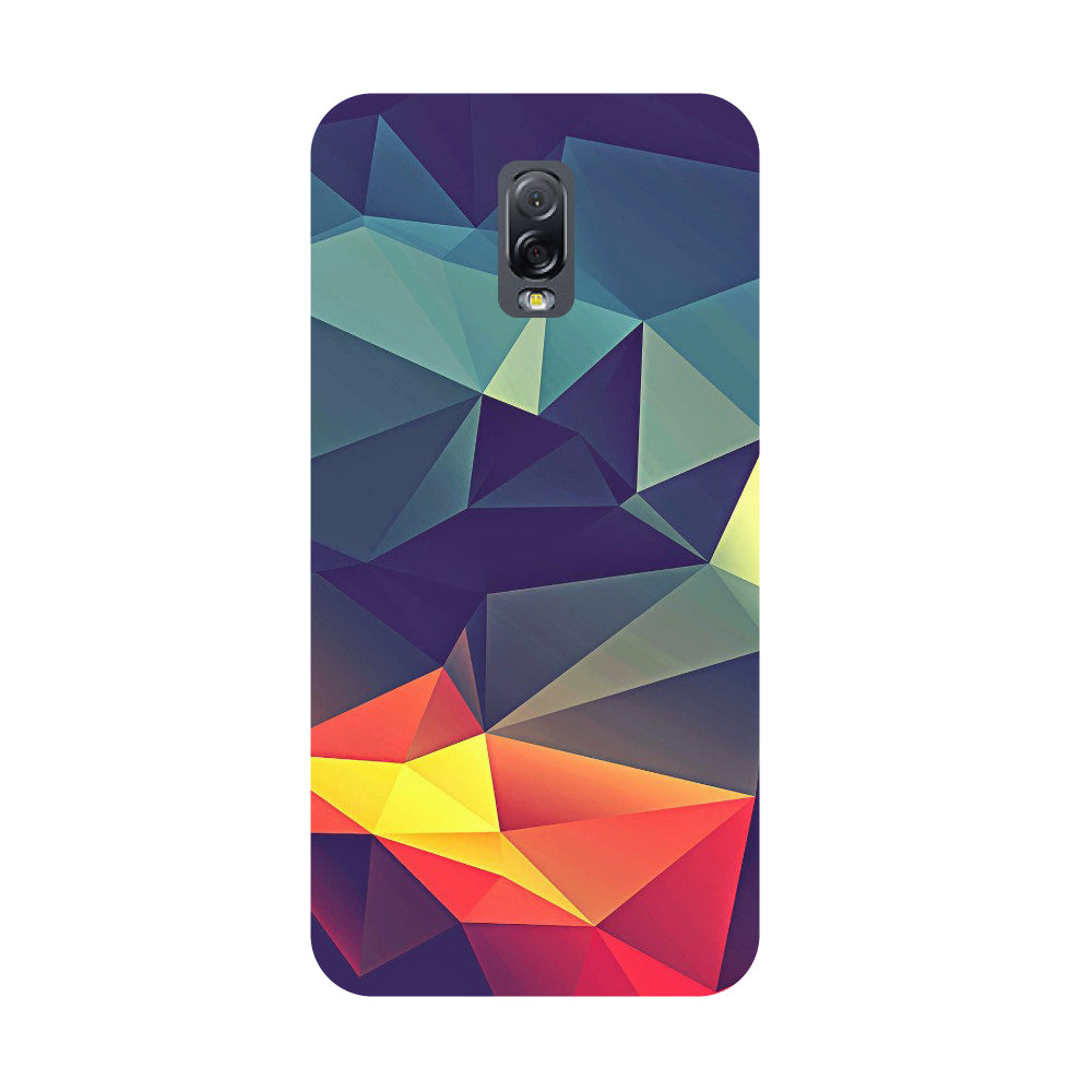 Abstract- Printed Hard Back Case Cover for Samsung Galaxy J7 Plus-Hamee India