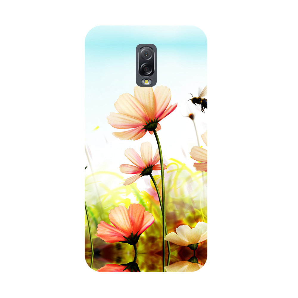 Flower bee- Printed Hard Back Case Cover for Samsung Galaxy J7 Plus-Hamee India