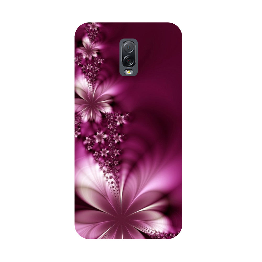 premium selection 838ad 99b4d Purple flowers- Printed Hard Back Case Cover for Samsung Galaxy J7 Plus