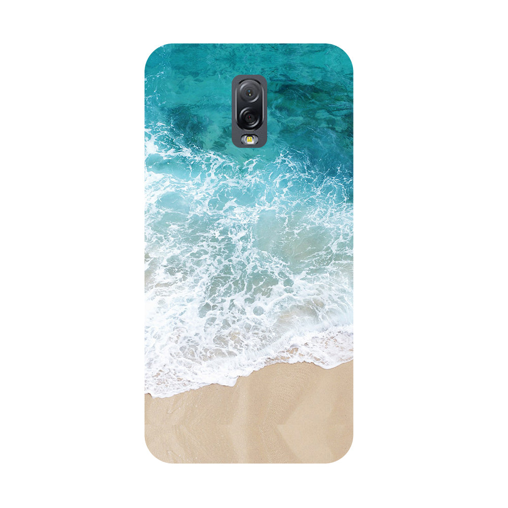 the latest d8b59 447e9 Sea- Printed Hard Back Case Cover for Samsung Galaxy J7 Plus