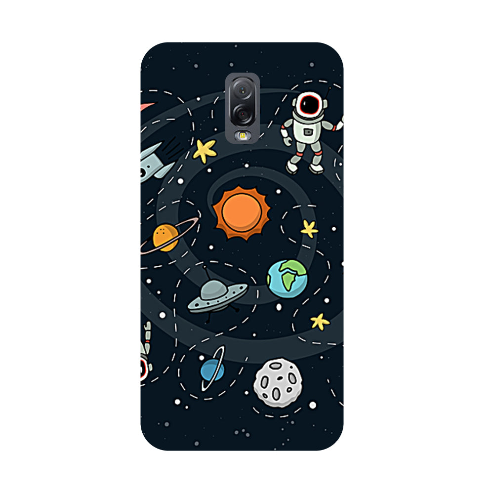 Planets- Printed Hard Back Case Cover for Samsung Galaxy J7 Plus-Hamee India