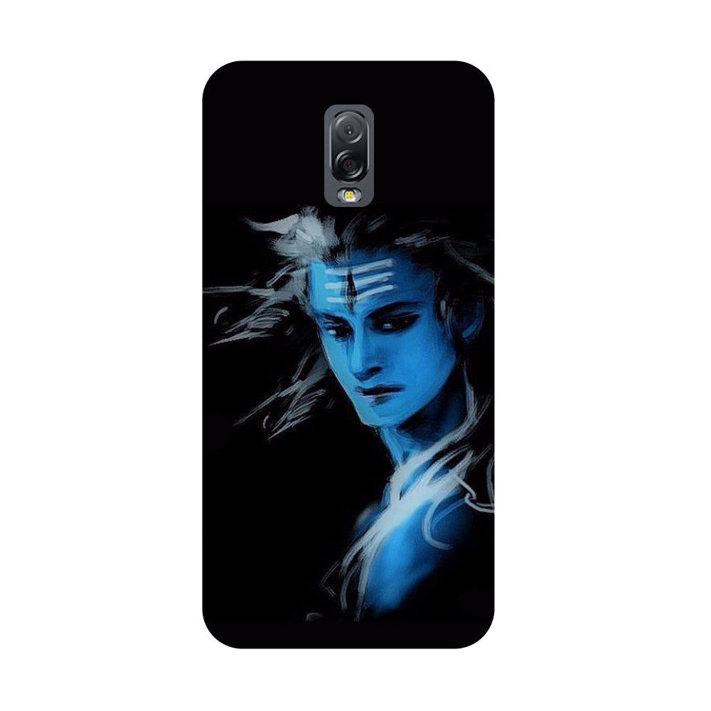 Blue black Shiva- Printed Hard Back Case Cover for Samsung Galaxy J7 Plus