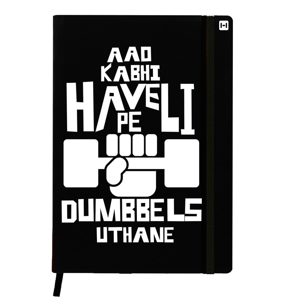 Obsessed with Dumbells - Black Notebook-Hamee India