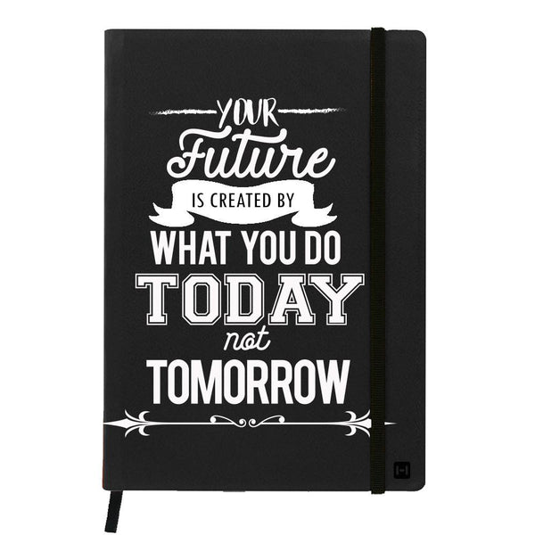 Future is What You Did Today Black A6 Pocket Diary