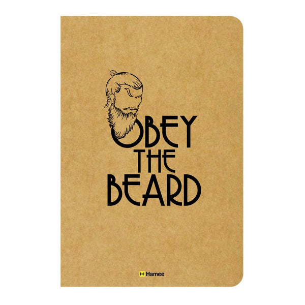 Obey Beard Ruled Craft Notebook-Hamee India