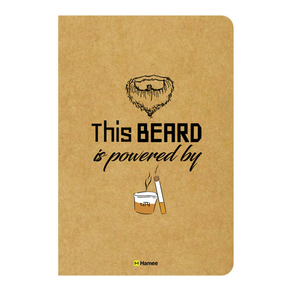 Beard Power Unruled Craft Notebook-Hamee India