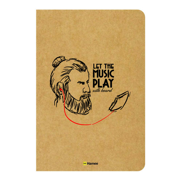 Beard Music Ruled Craft Notebook-Hamee India