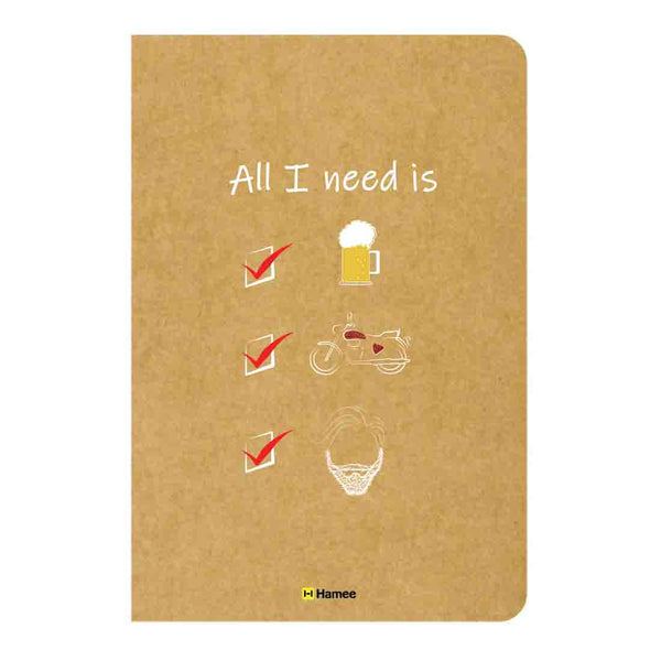 All I Need Unruled Craft Notebook-Hamee India