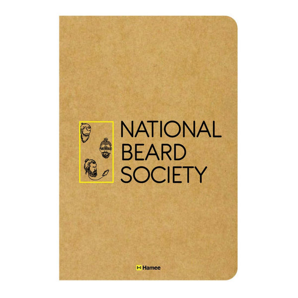 Beard Society Unruled Craft Notebook-Hamee India