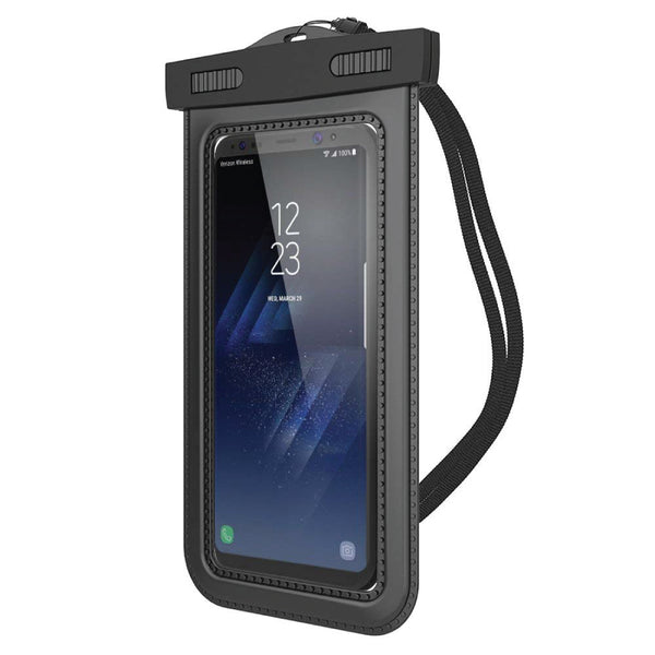 "Universal Waterproof Mobile Case (Upto 6"")(Black)"