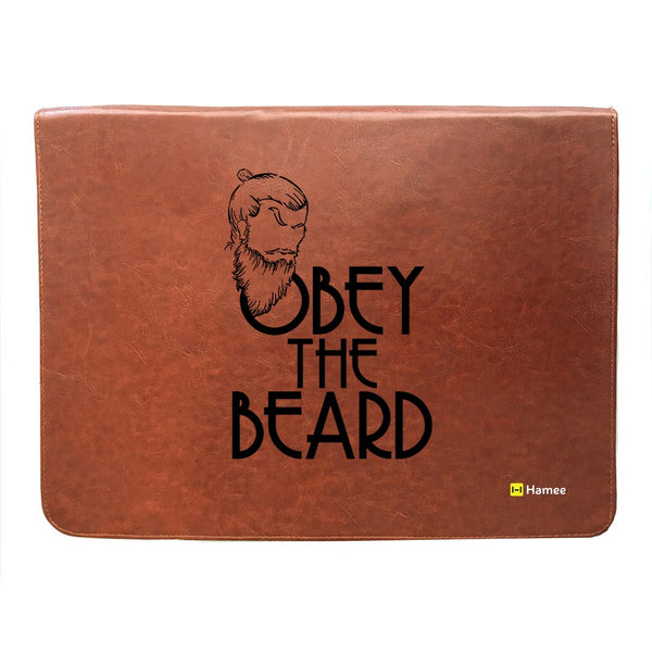Obey Beard - Leather File Folder-Hamee India