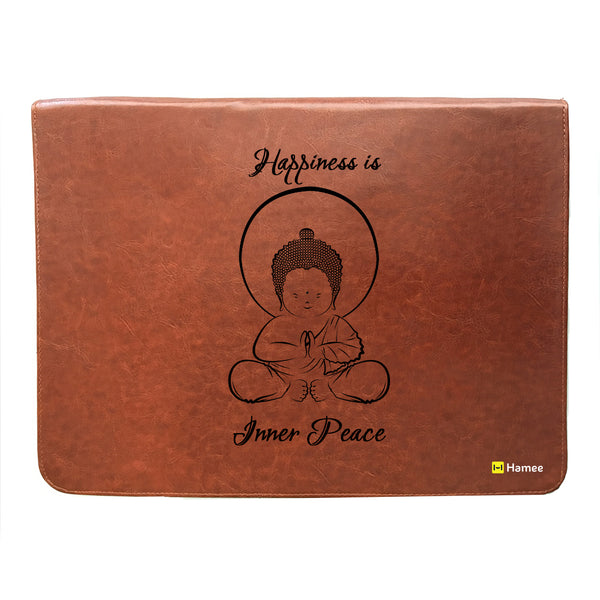 Happiness Peace - Leather File Folder-Hamee India