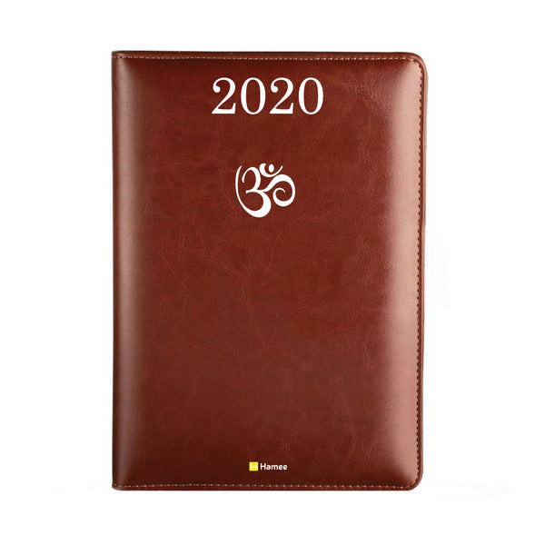 2020 Dark Brown Leather Diary - Om