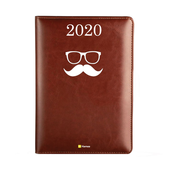 2020 Dark Brown Leather Diary - Disguise
