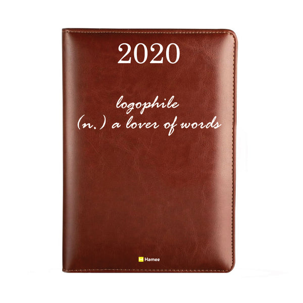 2020 Dark Brown Leather Diary - Logophile