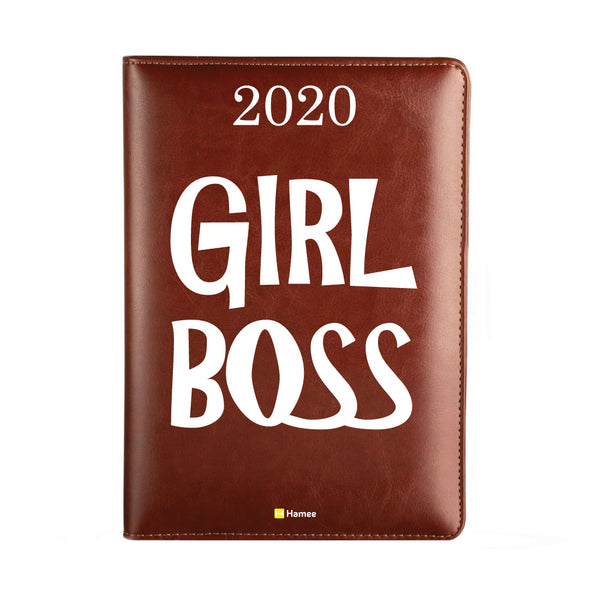 2020 Dark Brown Leather Diary - Girl Boss