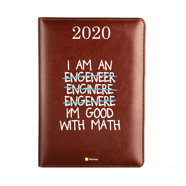 2020 Dark Brown Leather Diary - Engineer
