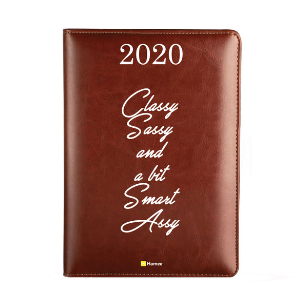 2020 Dark Brown Leather Diary - Classy